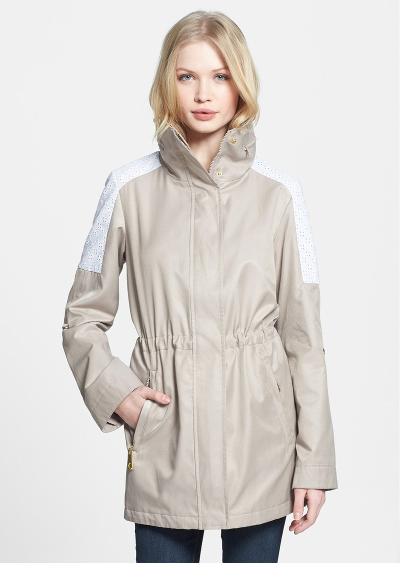 Betsey Johnson Eyelet Trim Anorak (Online Only)