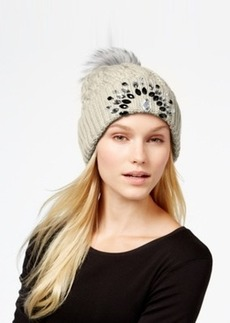 Betsey Johnson Jeweled Beanie