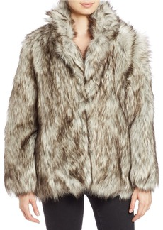BETSEY JOHNSON Faux Fur Jacket