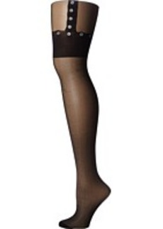 Betsey Johnson Faux Garter Tight
