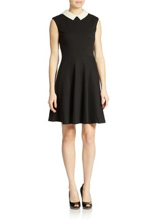 BETSEY JOHNSON Faux Pearl Collar Dress