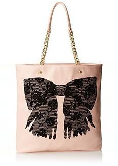 Betsey Johnson Flock-A-Bows Tote Handbag
