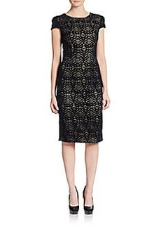 Betsey Johnson Flocked Sheath Dress