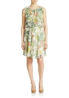 BETSEY JOHNSON Floral A Line Dress