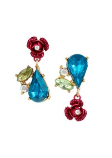 BETSEY JOHNSON Floral Cluster Earrings