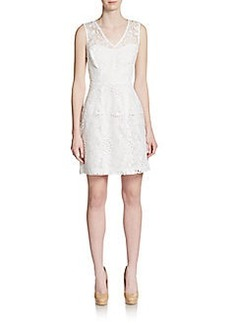 Betsey Johnson Floral Eyelet Overlay Dress