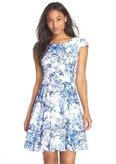 Betsey Johnson Floral Fit & Flare Dress