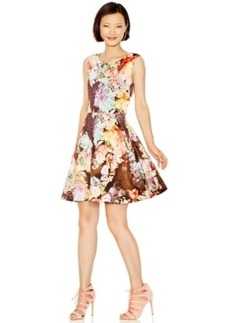 Betsey Johnson Floral Fit & Flare Scuba Dress