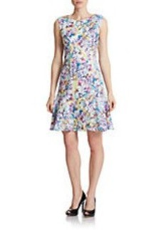 BETSEY JOHNSON Floral Flared Dress