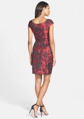 Betsey Johnson Floral Jacquard Sheath Dress