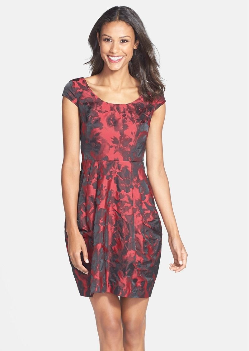 Betsey Johnson Floral Jacquard Sheath Dress