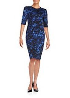 BETSEY JOHNSON Floral Knit Sheath Dress