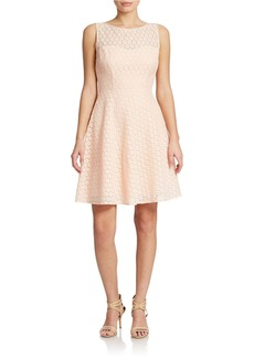 BETSEY JOHNSON Floral Lace Fit and Flare Dress