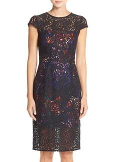 Betsey Johnson Floral Lace Sheath Dress