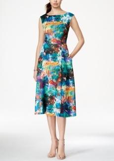 Betsey Johnson Floral-Print A-Line Midi Dress