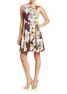 BETSEY JOHNSON Floral-Print Fit-and-Flare Dress
