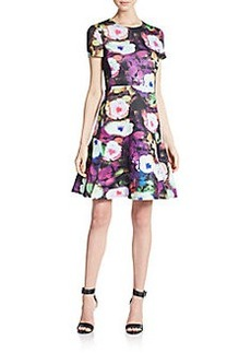 Betsey Johnson Floral-Print Flared Dress