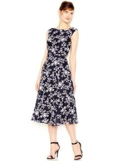 Betsey Johnson Floral-Print Lace Midi Dress