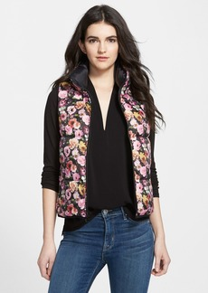 Betsey Johnson Floral Print Quilted Vest