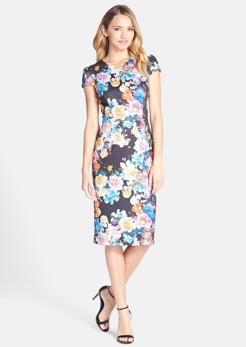 Galerry black sheath dress knee length