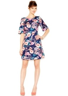 Betsey Johnson Floral-Print Scuba Sheath Dress