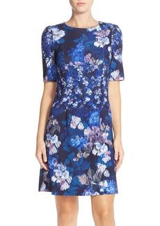 Betsey Johnson Floral Print Scuba Sheath Dress