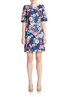 BETSEY JOHNSON Floral Print Scuba Shift Dress