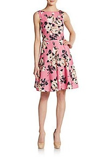 Betsey Johnson Floral-Print V-Back Dress