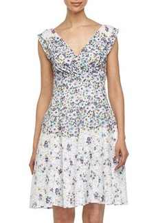Betsey Johnson Floral-Printed Lace Tea Dress