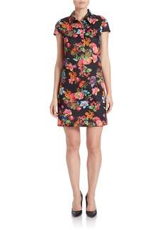 BETSEY JOHNSON Floral Shirt Dress