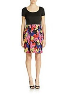 BETSEY JOHNSON Floral Skirt Fit and Flare Dress