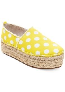 Betsey Johnson Flounce Flatform Floral Espadrille Flats Women's Shoes