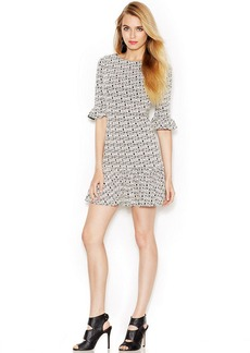 Betsey Johnson Fluted Geo-Print Dress