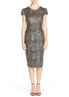 Betsey Johnson Foil Knit Sheath Dress