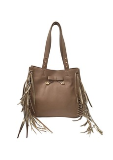 BETSEY JOHNSON Fringed Faux Leather Tote