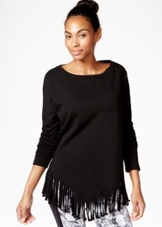 Betsey Johnson Fringed Top