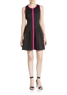 Betsey Johnson Front-Zip A-Line Dress