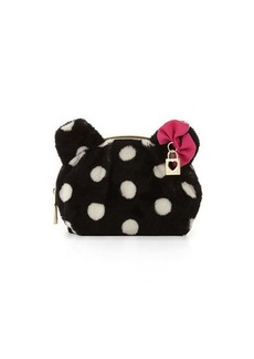 Betsey Johnson Fun Bear Polka-Dot Cosmetic Bag