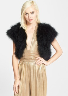 Betsey Johnson Genuine Marabou Vest