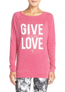 Betsey Johnson 'Give Love, Get Love' Acid Wash Pullover