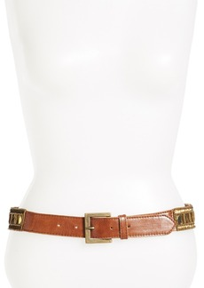 Betsey Johnson Gold Mirror Beaded Stretch Belt