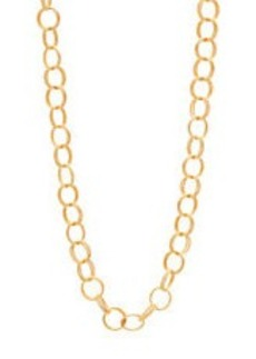 BETSEY JOHNSON Goldtone Long Textured Ring Necklace