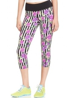 Betsey Johnson Gooey Roses Print Cropped Leggings