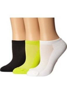 Betsey Johnson Half Cushion Microfiber Mesh Upper Low Cut Sock 3-Pack
