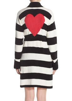 Betsey Johnson Heart Back Sweater Robe