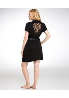 Betsey Johnson Heart Lace-Back Knit Wrap