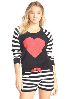 Betsey Johnson Heart Raglan Sweater