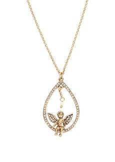 BETSEY JOHNSON Heaven Sent Angel Teardrop Pendant Necklace