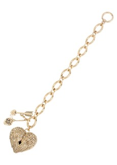 BETSEY JOHNSON Heaven Sent Heart Charm Bracelet