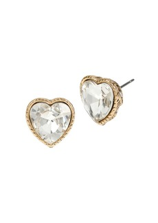 BETSEY JOHNSON Heaven Sent Heart Stud Earrings